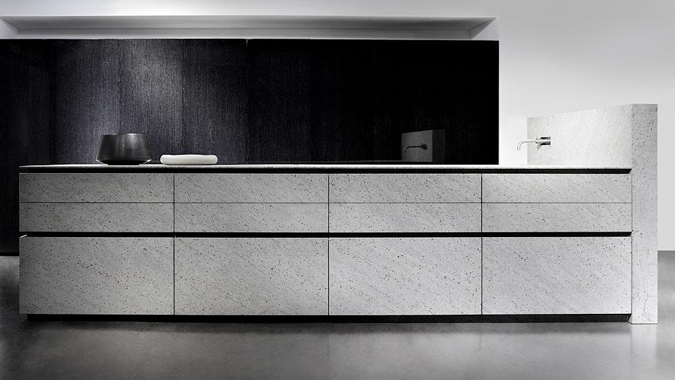 Exklusive Luxusküchen / Designerküchen mit Oberflächen aus Granit ...